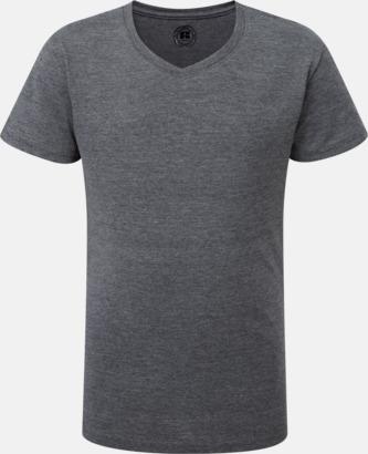 Grey Marl (v-neck flicka) Barn t-shirts i u- och v-hals med reklamtryck