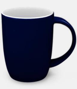 Marinblå / Vit Porslinskoppar med eget tryck