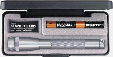 Grå Maglites Mini LED AA med reklamlogga