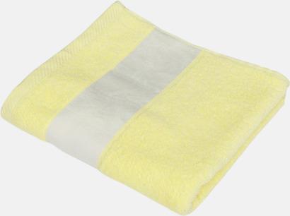 Light Yellow Handdukar i flera storlekar - med sublimeringstryck