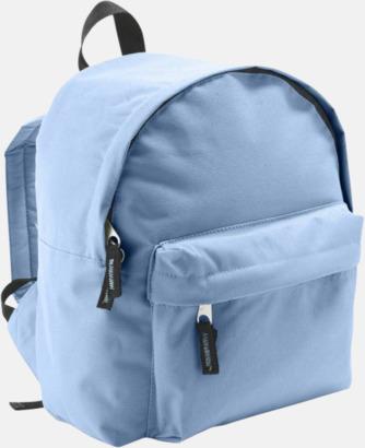 Sky Blue Juniorryggsäckar med reklamtryck