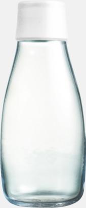 Frosted white Mindre vattenflaskor av glas med reklamtryck