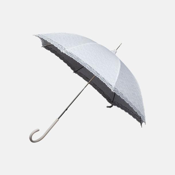 Vit Unika spets paraplyer med eget reklamtryck