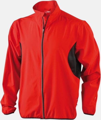 Röd / Svart Lightweight löparjackor med eget tryck