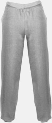 Heather Grey Mjuka byxor för barn med reklamtryck
