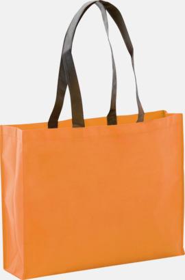 Orange Mall bagar i non woven med tryck