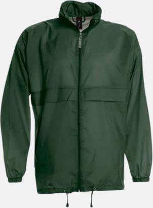 Bottle Green (unisex) Vind- och vattentäta jackor för dam, herr och barn - med tryck