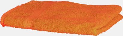 Orange Exklusiva handdukar med egen brodyr