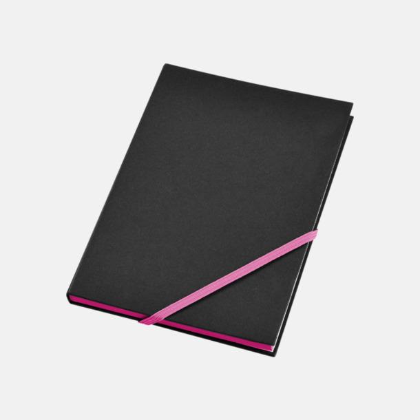 Svart/Neonrosa (A5) Anteckningsböcker i A5- och A6-format med reklamtryck