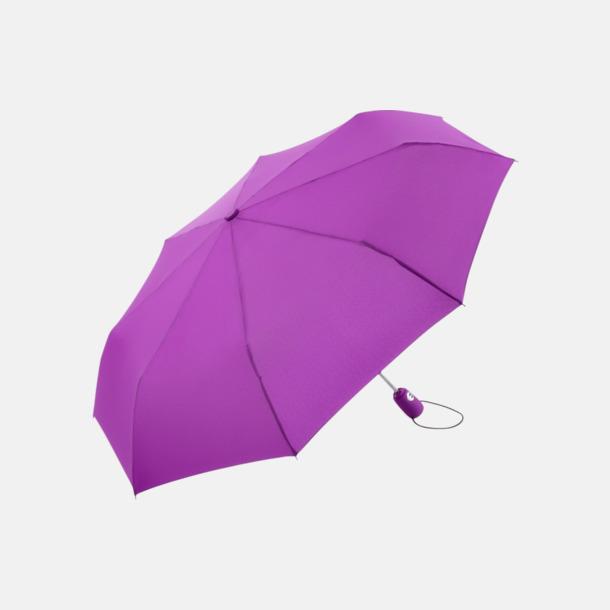 Lila Kompakta paraplyer med eget reklamtryck