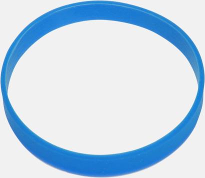 Blå Svart termos med färgat silikonband - med reklamtryck