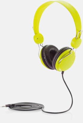 Grön Hörlurar i många färger med reklamtryck
