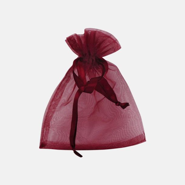 Röd (S) Färgglada presentpåsar i 4 storlekar med reklamtryck