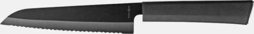 """Tandad kniv 5"""" Exklusivt, mörk knivset med reklamlogo"""