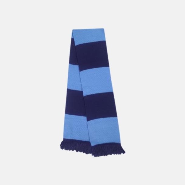 Marinblå/Ljusblå Halsdukar i olika lagfärger med egen brodyr