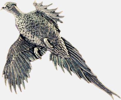 Stor fasan Engelska, handgjorda broscher med jaktmotiv