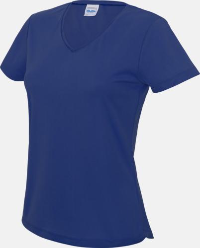 Royal Blue Damtröjor i funktionsmaterial med reklamtryck