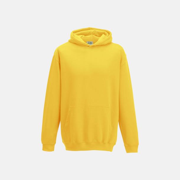 Sun Yellow Huvtröjor för barn i många färger - med reklamtryck