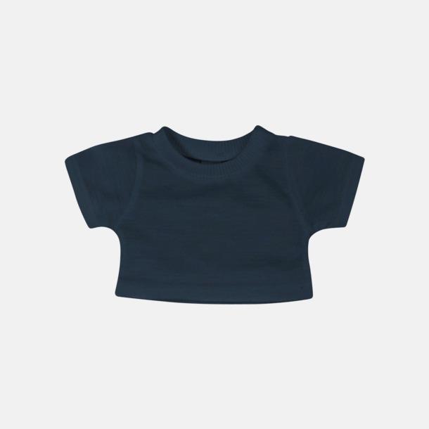 Marinblå Enfärgade t-shirts för gosedjur - med reklamtryck