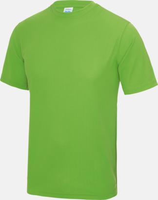 Limegrön Billig funktionströja med eget tryck