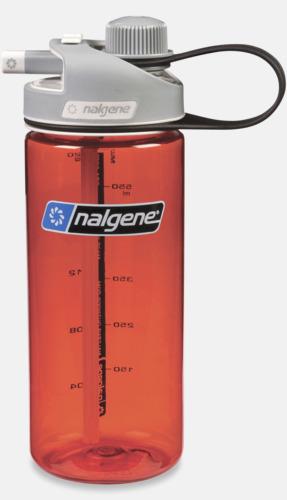 Röd Vattenflaska med multidinklock