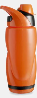 Orange / Svart Vatten och sportflaska med tryck