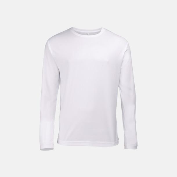 Arctic White (unisex) Unisex tränings t-shirts med långa ärmar - med reklamtryck