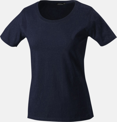 Marinblå T-shirtar av kvalitetsbomull med eget tryck