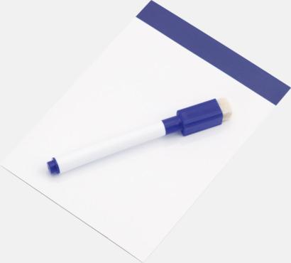 Vit / Blå Mini-writing boards med reklamtryck