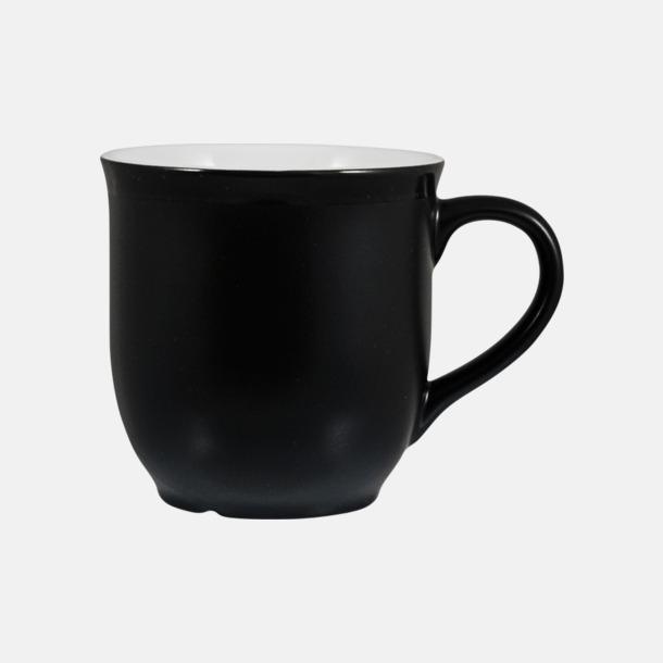 Svart/Vit Fina kaffemuggar med reklamtryck
