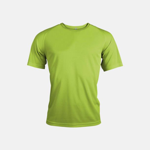 Limegrön Sport t-shirts i många färger för herrar - med reklamtryck