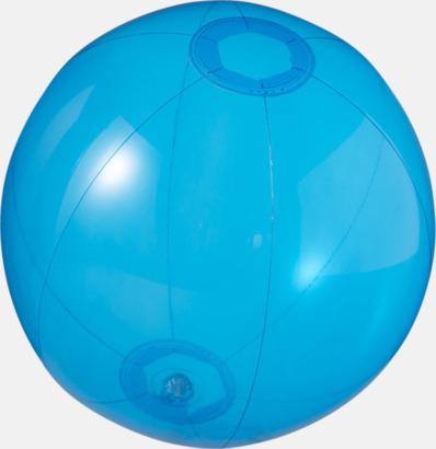 Blå (transparent) Badbollar i solida och transparenta färger med reklamtryck