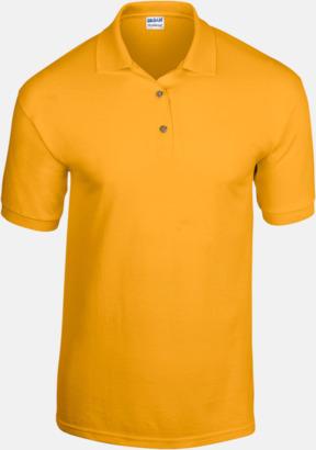 Gold Billiga herrpikétröjor med tryck