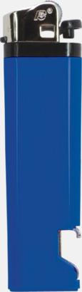 Blå Engångständare med kapsylöppnare - med reklamtryck