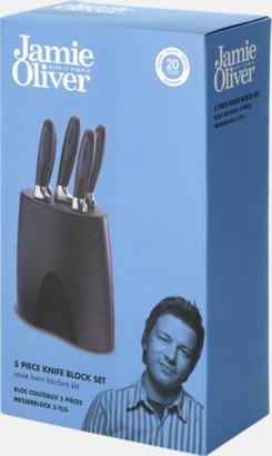Presentförpackning Knivblock med 5 knivar från Jamie Oliver med reklamlogo