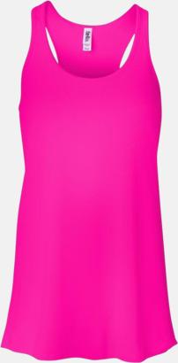Neon Pink (dam) Dam- & flicklinnen med racerback - med reklamtryck