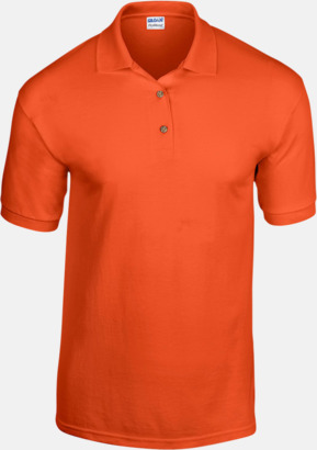 Orange Billiga herrpikétröjor med tryck