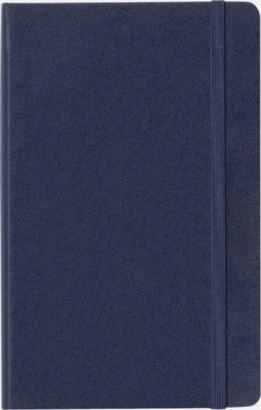 Framsida Moleskines stora anteckningsböcker med linjerade eller rutade sidor - med reklamtryck