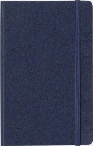 Framsida Moleskines stora anteckningsböcker (ca A5) med linjerade eller rutade sidor - med reklamtryck