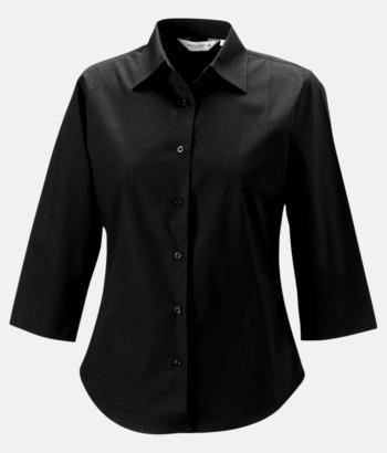 Svart (bild 2) Lättskötta blusar med reklamtryck