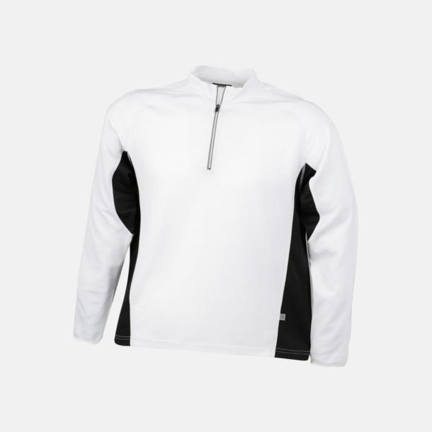 Vit / Svart Träningskläder med eget tryck