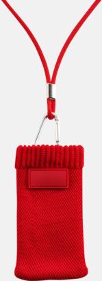 Röd Mobilstrumpa med eget tryck