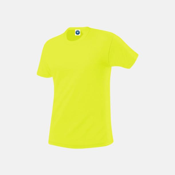 Floucerande Gul (herr) Funktions t-shirts i herr- & dammodell med reklamtryck
