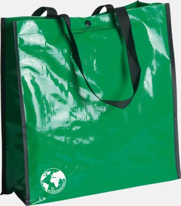 Grön Biologiskt nedbrytbara shoppingbagar med reklamtryck