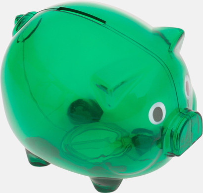 Grön Transparenta spargrisar med reklamtryck