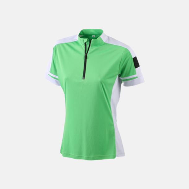 Grön (dam) Herr- och dam cykeltröjor med reklamtryck