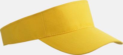 Gul Fashion - Enkel solskärm i bomull med tryck eller brodyr