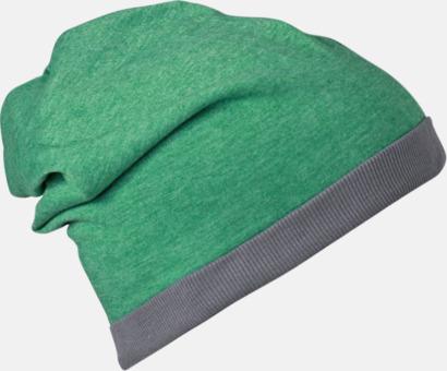 Grön Melange/Mörkgrå Tunna sommarmössor med reklambrodyr
