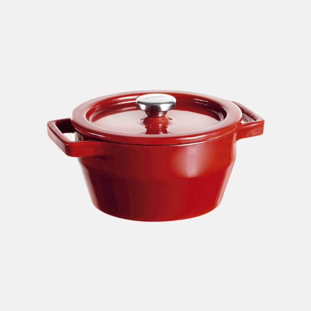 Röd Gjutjärnsgryta mini från Pyrex på 0,2 liter