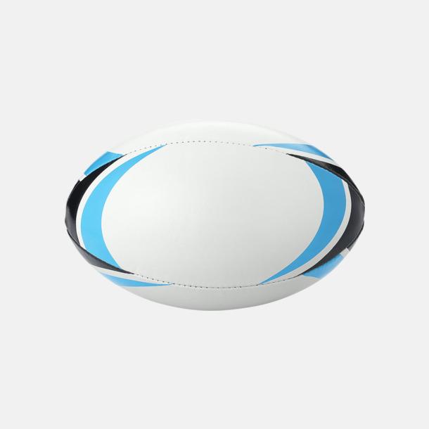 Vit/Blå/Svart Rugbybollar med reklamtryck